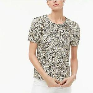 *Brand new* NWT J crew leopard top size XS